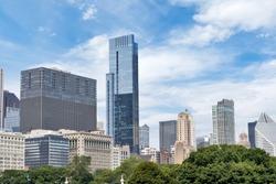 Skyline from Millennium Park in Downtown Chicago, Illinois