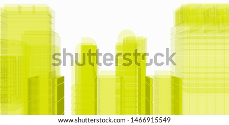 skyline in color of cities
