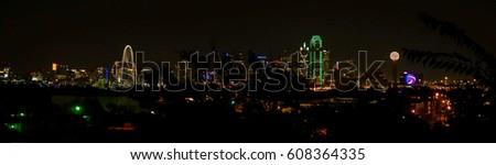 Skyline in Dallas, TX stock photo