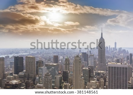 Skyline Manhattan, NYC. #381148561