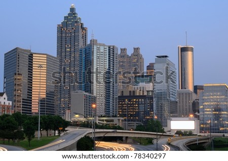 skyline of atlanta, georgia