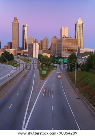 skyline of atlanta georgia usa