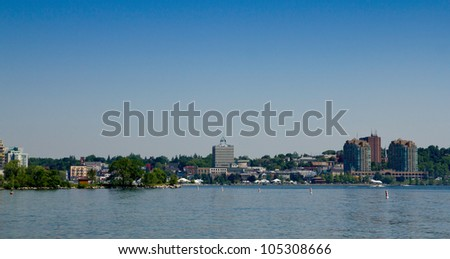 Skyline of Barrie in Ontario - stock photo