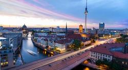 Skyline of Berlin, view of the Alexanderplatz