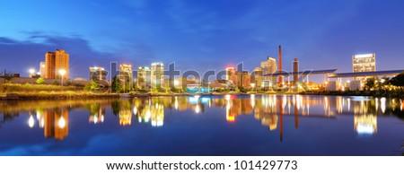 Skyline of Birmingham, Alabama from Railroad Park.
