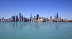 Skyline of Chicago city
