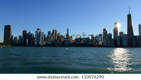 Skyline of Chicago from Lake Michigan