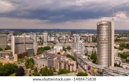 Skyline of city Essen in germany Stock foto ©