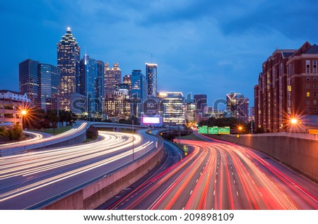 Skyline of Downtown Atlanta Georgia USA