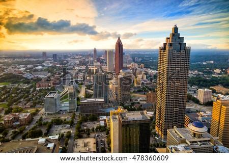 Skyline of downtown Atlanta, Georgia, USA #478360609