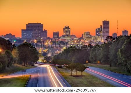 Skyline of downtown Columbia, South Carolina from above Jarvis Klapman Blvd. #296095769