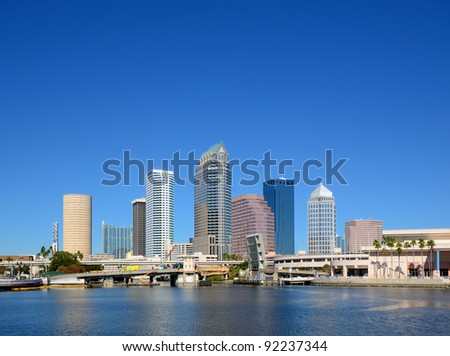 skyline of downtown Tampa, Florida