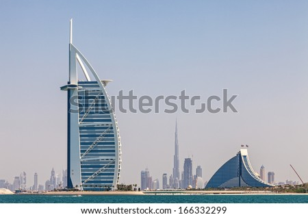Skyline of Dubai from the water
