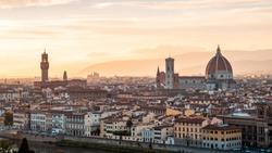 Skyline of Firenze, shot from Piazzale Michelangelo