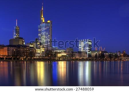 Skyline of Frankfurt Stock foto ©
