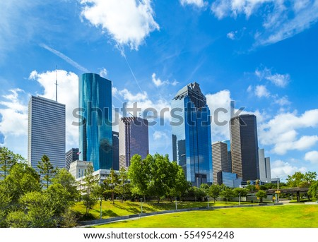 Skyline of Houston, Texas in daytime