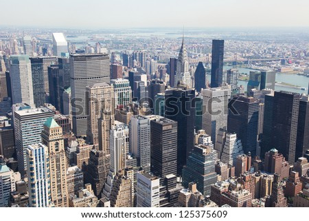 Skyline of Manhattan in New York City, United States