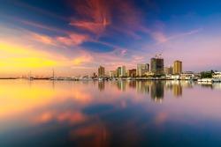 Skyline of Manila City and Manila Bay, Philippines
