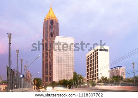 Skyline of midtown Atlanta at dusk, Georgia, USA #1118307782