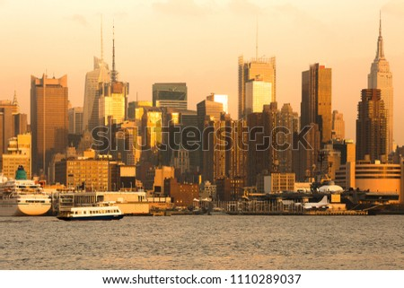 Skyline of midtown Manhattan, New York City, NY, USA #1110289037