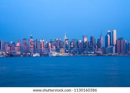 Skyline of midtown Manhattan, New York City, NY, USA #1130160386
