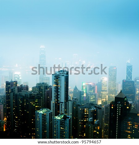 Skyline of modern City