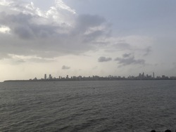 Skyline of Mumbai, Maharashtra, India.