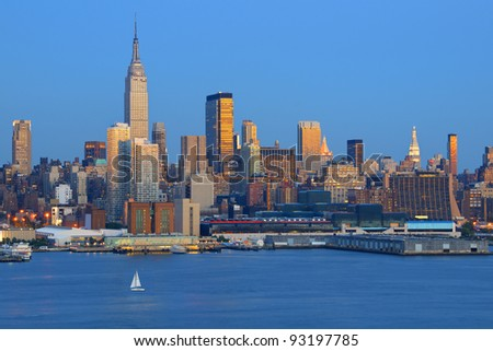 Skyline of New York city from across the Hudson River