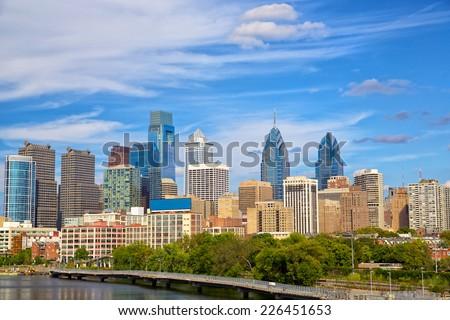 Skyline of Philadelphia downtown, Pennsylvania, USA