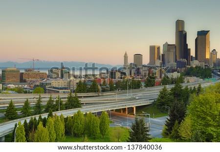 Skyline of Seattle Washington