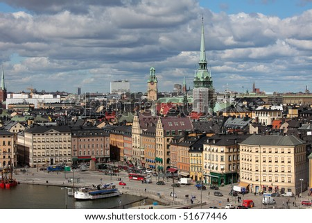 Skyline of Stockholm, capital of Sweden