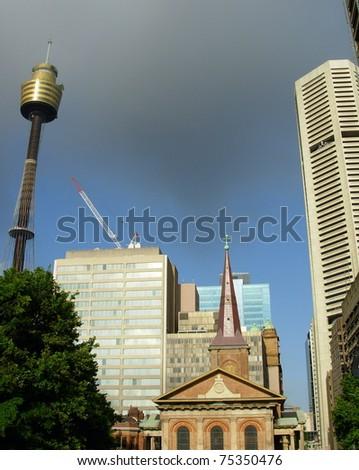 Skyline of Sydney downtown