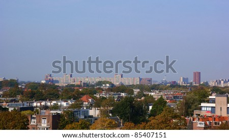 Skyline of the hague in early autumn