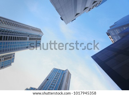 Skyline of the metropolis. (Seoul City, Korea)