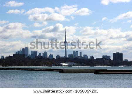 Skyline of Toronto, Ontario in Canada #1060069205