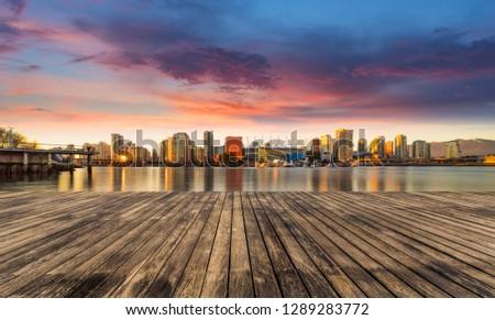 skyline of Yaletown , Canada.