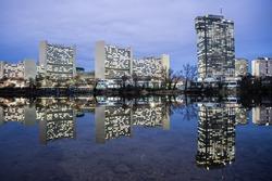 Skyline Uno City Vienna Austria Wien