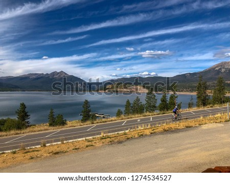 Skyline view in Lake Dillon, Colorado