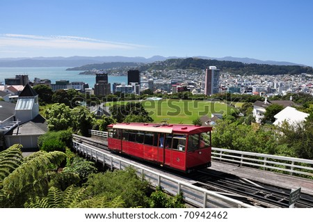 skylline of Wellington, New Zealand