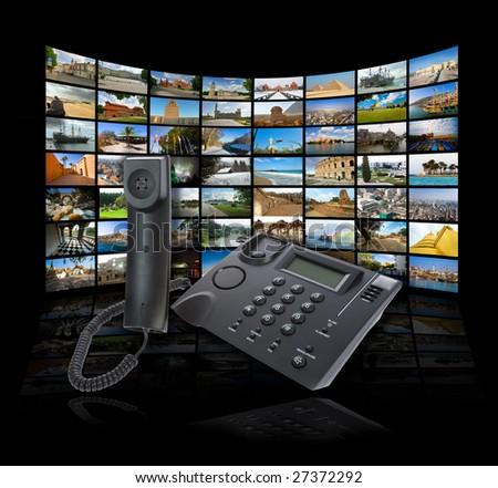 Skype technology concept. See portfolio for similar Images