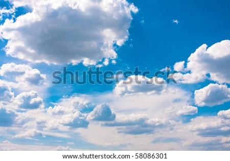 Skyscape (cumulus clouds in the sky)