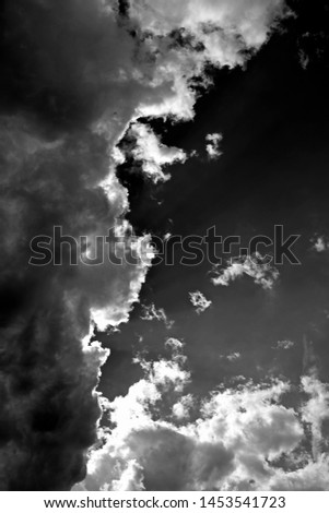 Skyscape / Germany: Impressive cloudscape over Eastern Thuringia on a tempestuous afternoon in July Foto stock ©