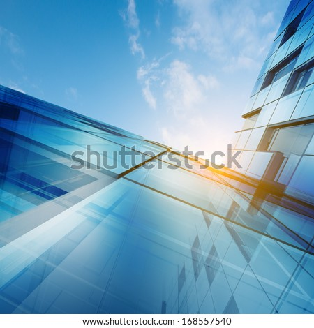 Skyscraper abstract concept. Building design and 3d model my own