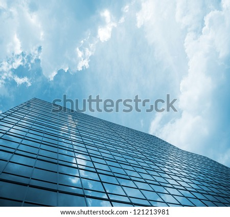 skyscraper against sky building glass background #121213981