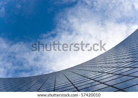 skyscraper against sky building glass background