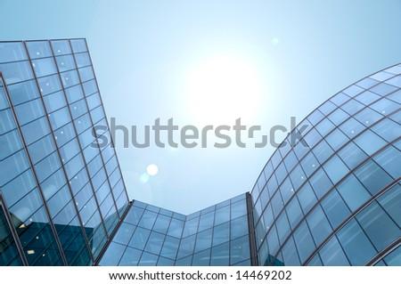 Skyscraper building blue sky