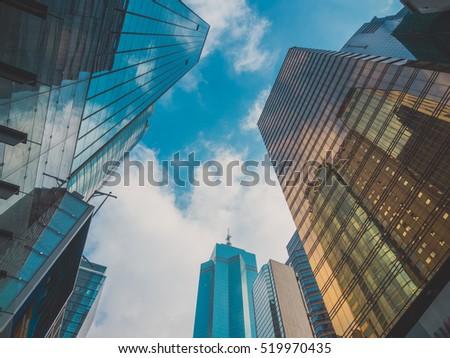 Skyscraper Buildings and Sky View #519970435