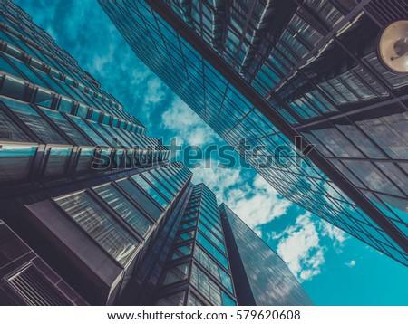 Skyscraper Buildings and Sky View #579620608