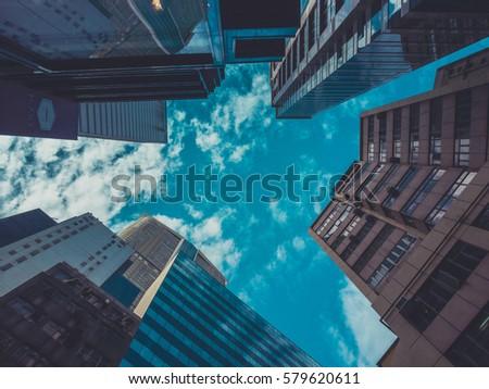 Skyscraper Buildings and Sky View