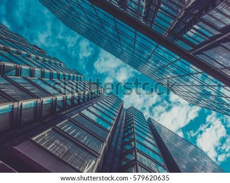 Skyscraper Buildings and Sky View #579620635